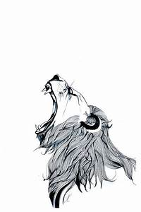 Growling Lion | Lion art, Lion drawing and Logos