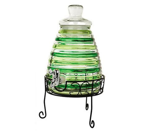 Beehive Drink Dispenser With Stand by Quot As Is Quot Beehive Shaped Beverage Dispenser With Stand Qvc Com