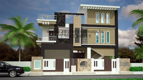 modern elevation design  residential buildings house map elevation exterior house design  house map  india home design