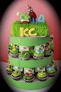 Plants Vs Zombies Cake And Cupcake Tower - CakeCentral com