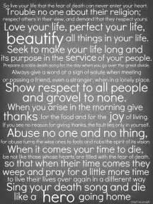 Tecumseh Poems And Quotes. QuotesGram