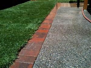 Brick, Garden, Edging, Photograph