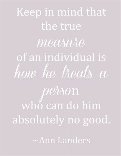 Measure Homemaking Person Quotes Quote Word True