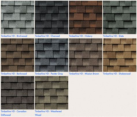 timberline shingles color chart integrity roofing residential commercial industrial