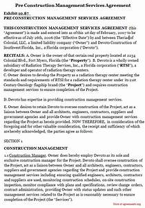 Letter Of Cancellation Of Service Pre Construction Management Services Agreement Pdf