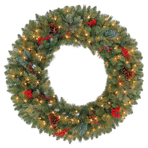 36 quot lighted christmas wreath pre lit clear led lights