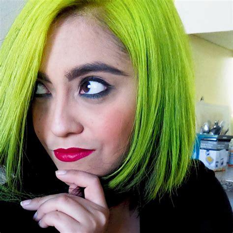 Black And Neon Green Hair Hair Colors Ideas