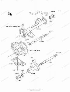 Kawasaki Atv 2003 Oem Parts Diagram For Rear Axle