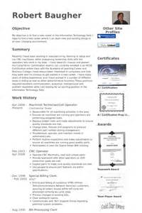free sle resume for machinist cnc programmer resume sle bestsellerbookdb