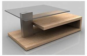 Table Basse Bois Et Verre : photo table basse verre et bois ~ Teatrodelosmanantiales.com Idées de Décoration