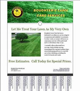 Lawn care flyer templates free for Lawn care business flyers