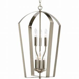 Progress lighting gather collection light brushed nickel