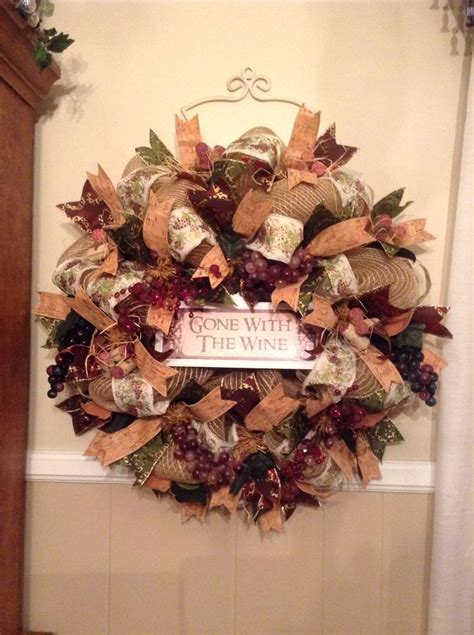 Wine Themed Wreath I Finally Finished Sold Immediately