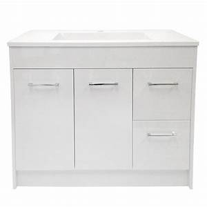 "Vanity and Sink - 2 Doors/2 Drawers- 35""- White RONA"