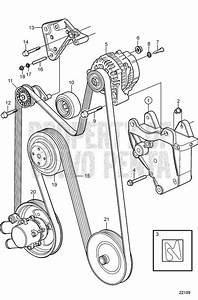 Volvo Penta Exploded View    Schematic Serpentine Belt And
