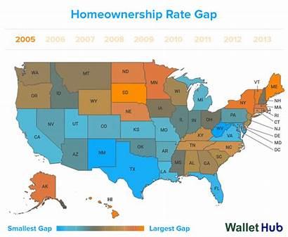 Gap States Race Gaps Highest Lowest Homeownership