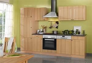 Küche 280 Cm : k chenzeile boston k che mit e ger ten breite 280 cm buche k che boston buche ~ Markanthonyermac.com Haus und Dekorationen