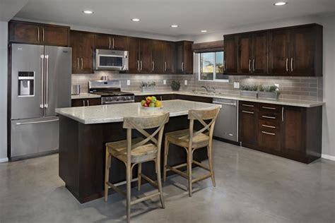transitional edge  urban shaker style cabinets