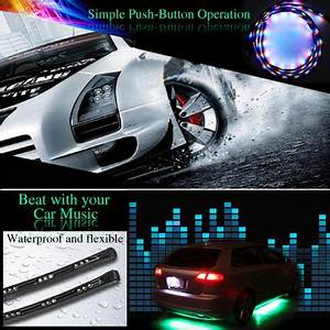 7 Colour LED Under Car Glow Underbody System Neon Lights