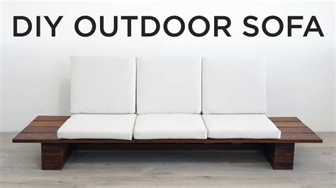 diy outdoor sofa youtube