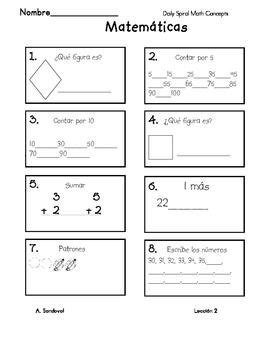 Spanish Language Math Worksheets  2nd Grade Spanish Foreign Language Worksheets Free Printables
