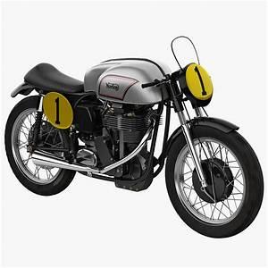 3d model road racing motorcycle norton
