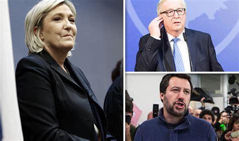 italian election  marine le  taunts eu