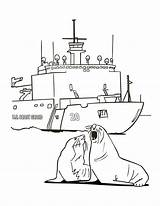 Guard Coast Coloring Pages Template sketch template