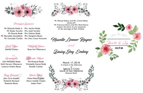 Design your wedding and party invitation in modern style