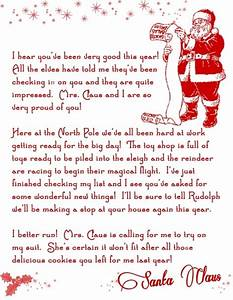 Letter from santa christmas printable free holiday pins for Free christmas letters from santa
