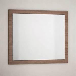 miroir salle de bain avec cadre finition britannia 80x70 With miroir salle de bain encadrement bois