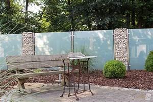 Grüner Sichtschutz Garten : sichtschutz aus glas f r den garten glasprofi24 ~ Markanthonyermac.com Haus und Dekorationen