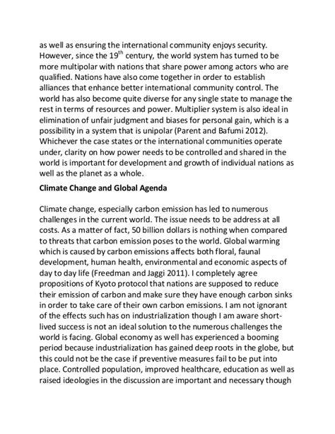 polarity  global warming sample essay