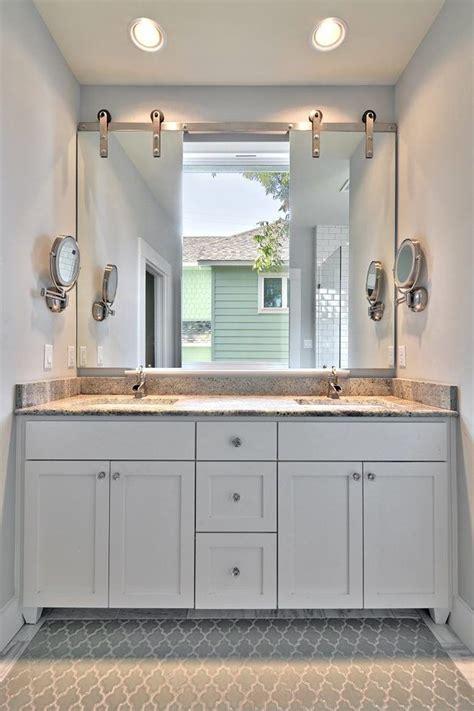 mirror  window bathroom transitional   sinks