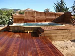 Piscine Bois Semi Enterrée : piscine semi enterr e en bois cours pinterest ground ~ Melissatoandfro.com Idées de Décoration