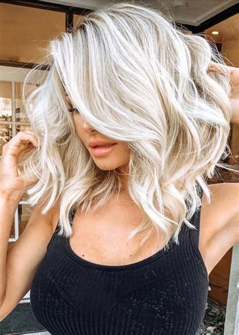awesome blond hair colors  medium length hair