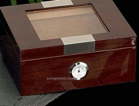 bulova desk clock price 12 cigar cedar lined walnut humidor w glass top