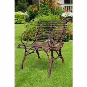 Fauteuil Fer Forgé : fauteuil de jardin en m tal fer forg arras ~ Melissatoandfro.com Idées de Décoration