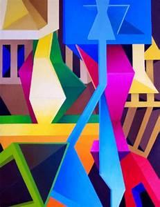 40 Aesthetic Geometric Abstract Art Paintings - Bored Art