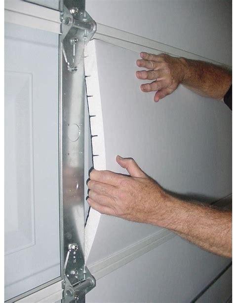 garage door foam energy weather plastic insulation diy