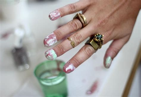 How To Do Marble Manicures