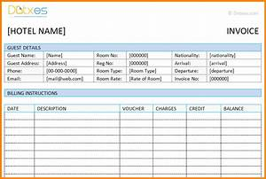 8 hotel bill formats simple bill With sample hotel invoice format in word