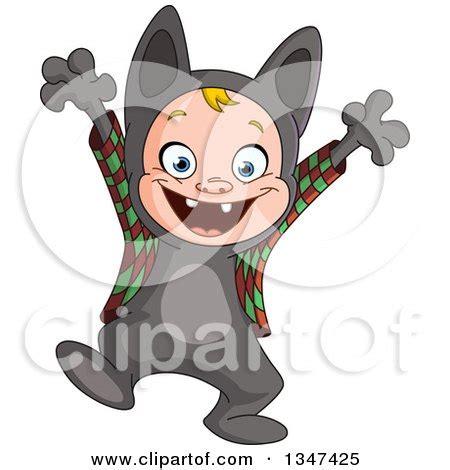 halloween werewolf cartoon boy costume clipart illustration playing royalty yayayoyo vector