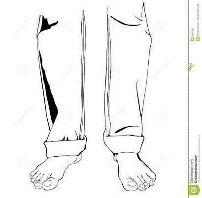 Legs Vector Feet Jeans Barefoot Emissions Illustration