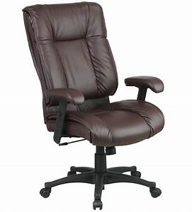 High, Back, Executive, Deluxe, Leather, Chair, In, Office, Chairs