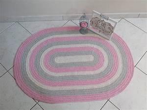 Baby Tapete Rosa : tapete croch baby oval rosa atelier val cordeiro elo7 ~ Michelbontemps.com Haus und Dekorationen