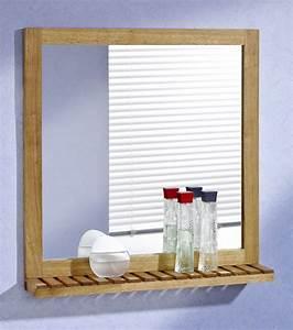 Spiegel Bad Mit Ablage : wandspiegel mit ablage 60x63 walnuss holz spiegel ebay ~ Michelbontemps.com Haus und Dekorationen