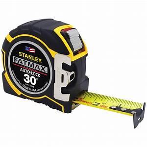 Stanley Fat Max : stanley fatmax 30 ft x 1 1 4 in auto lock tape measure fmht33348 the home depot ~ Eleganceandgraceweddings.com Haus und Dekorationen