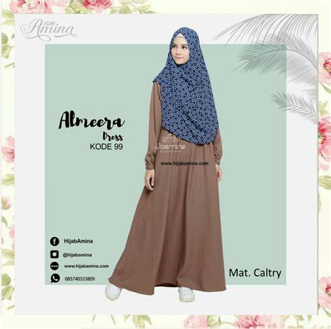 gamis syar i sabrina black almeera dress kode 99 hijabamina
