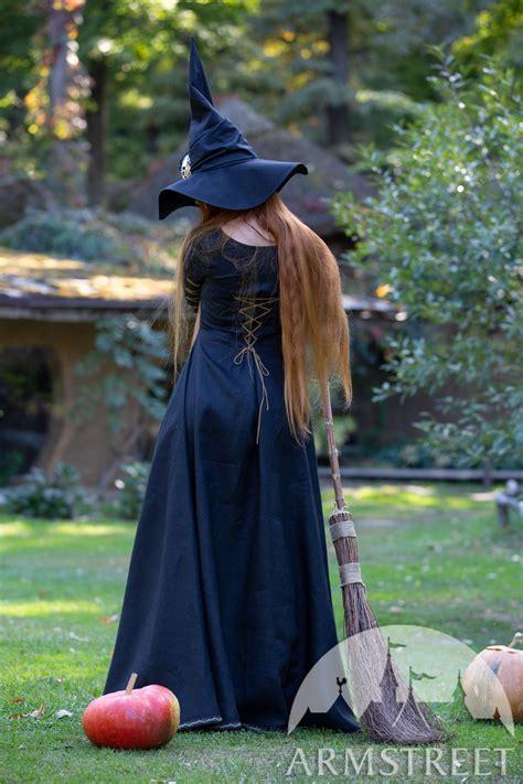 black linen witch halloween dress bloody thorn  sale